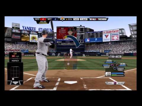 MLB 12 The Show Gameplay Yankees - Online Multiplayer Gameplay Red Sox vs Yankees