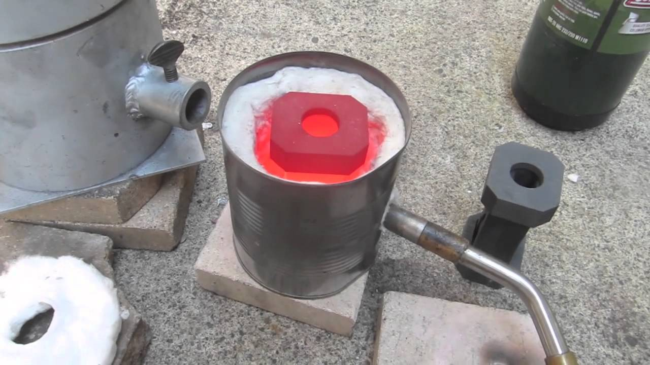 Home Made Propane Furnace Easy Diy Melts Silver Gold
