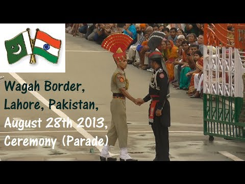 Wagah Border Parade, Ceremony At Lahore, Pakistan On August 28th 2013 video