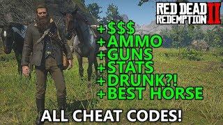Red Dead Redemption 2 - All Cheat Codes (Infinite Money, Max Ammo, Spawn War Horse, Best Stats, etc)