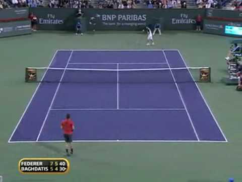 Marcos Baghdatis - Roger Federer - Indian Wells 2010 Video