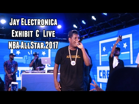 Jay Electronica Performs Exhibit C live at 2017 NBA All Star Weekend