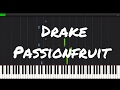 Drake - Passionfruit EASY Piano Tutorial