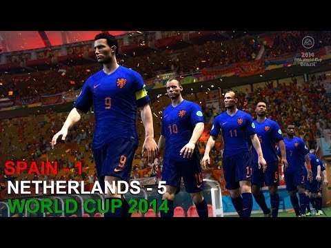 Fifa World Cup 2014| Spain- 1 vs Netherlands- 5| Game Recap