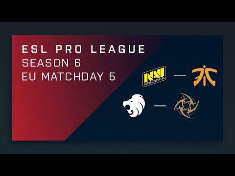 CS:GO - Na'Vi vs. fnatic | North vs. NiP - Day 5 - ESL Pro League Season 6 - EU Main Stream