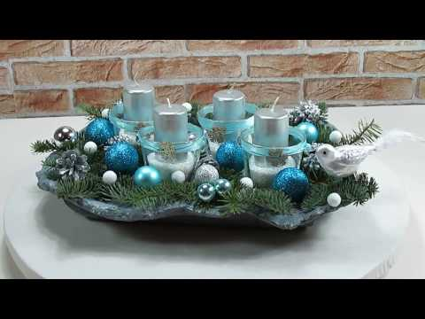 Weihnachtsdeko Ideen Adventsgesteck Adventskranz Selber Basteln