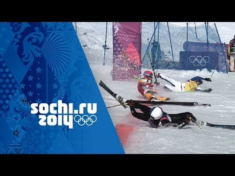 Crazy Photo Finish In Men's Ski Cross Quarter-Final | Sochi 2014 Winter Olympics