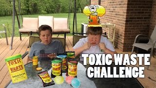 Toxic Waste Sour Candy Challenge!