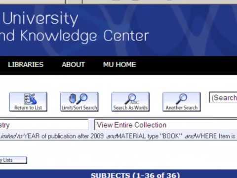 Mulkc Web Opac Search video