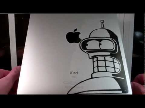 iPad Decal from the Decal Guru Review (Bender the Robot)