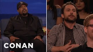 Download Lagu Ice Cube Vs. Charlie Day  - CONAN on TBS Gratis mp3 pedia