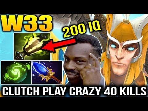 W33 200 IQ Gameplay 40 KILLS with Skywrath Mage Dota 2 7.15