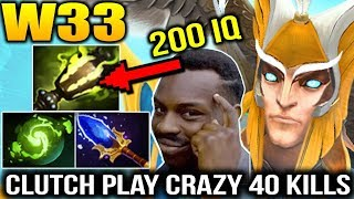 W33 200 IQ Gameplay 40 KILLS with Skywrath Mage Dota 2 7.15