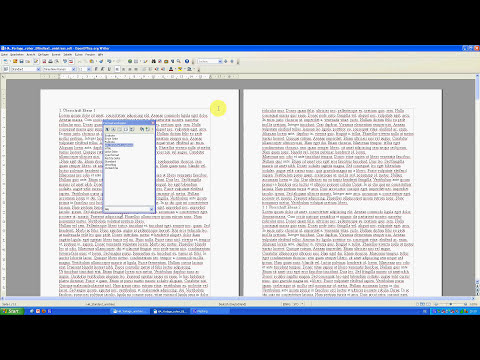 Hausarbeiten formatieren mit OpenOffice Teil 1 - Standardseite einrichten