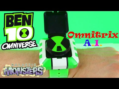 Ben 10 Omniverse Galactic Monsters Omnitrix A.I. Toy Review & Unboxing. Bandai