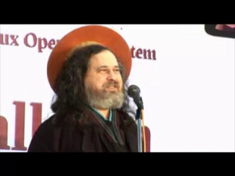 Richard M Stallman talk in FISAT, Ankamali, Ernakulam, Kerala, India