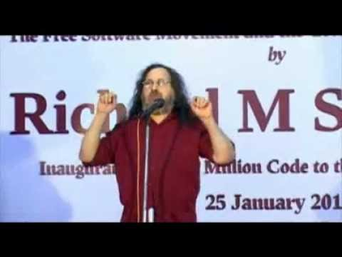 Richard M Stallman talk in FISAT, Ankamali, Ernakulam, Kerala, India