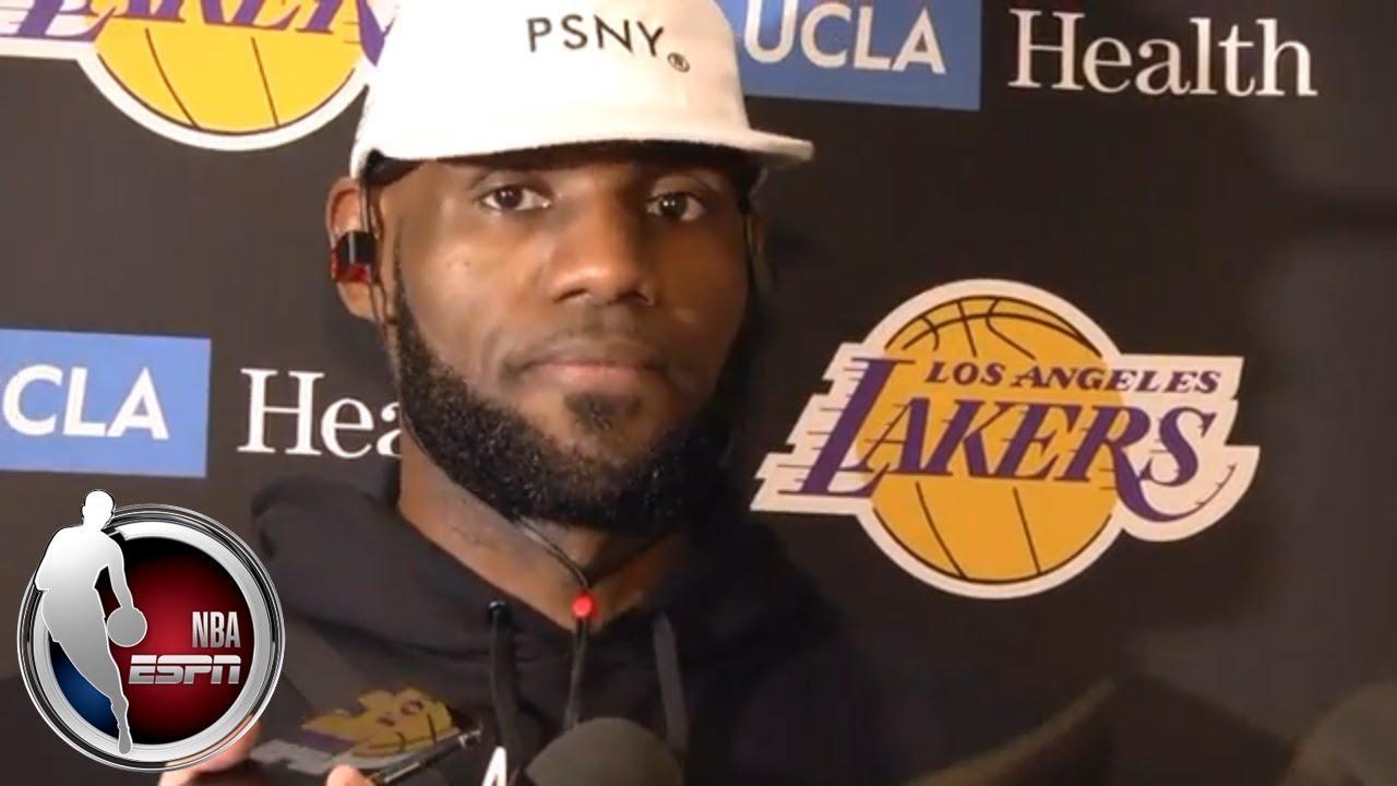 [FULL] LeBron James talks Lakers' preseason debut vs. Nuggets | ESPN