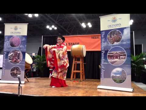 Japanese Okinawa Dance At The NY Times Travel Show 2013