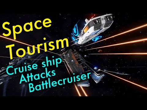 Space Tourism (Ep 4) - Cruise Ship Attacks Battlecruiser   Elite: Dangerous