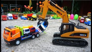 Excavator For Kids - Trucks For Children - Car Toys Playing