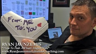 """How-To Fold A Heart-Shaped Note"" (Dating Advice) #PUA 💌"
