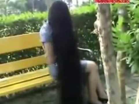 Long Hair Play And Long Hair Pulling- Model Athenea In The Garden Part 1 video