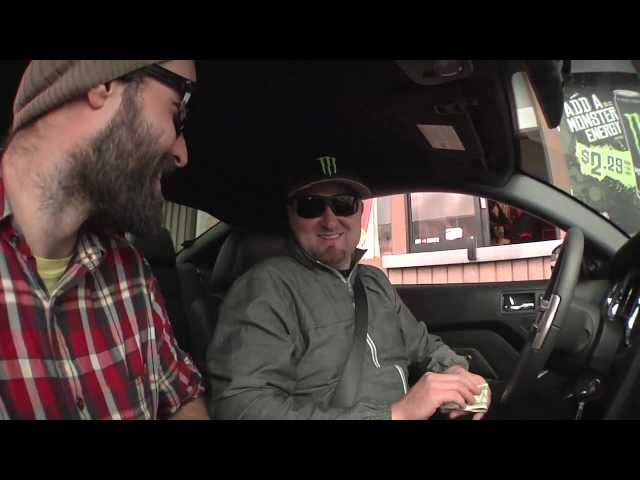 Vaughn Gittin Jr. drifts a Carl's Jr. parking lot
