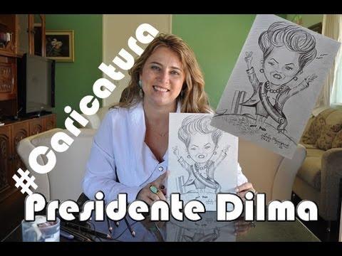 Aprender a desenhar caricatura - Dilma Rousseff