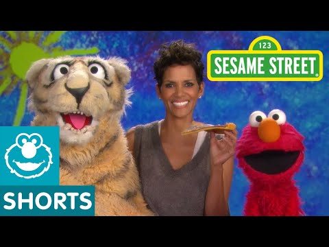 Sesame Street: Halle Berry And Elmo - Nibble video