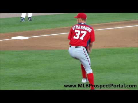 Stephen Strasburg's pitching mechanics - Washington Nationals, RHP