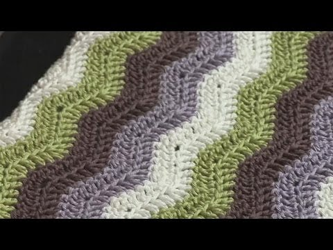 Crochet Stitches Youtube Channel : Step By Step Guide To Chevron Patterns In Crochet - YouTube