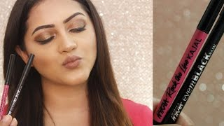 *NEW* NYKAA ROCK THE LINE & EYEM  KAJAL REVIEW/DEMO | GoGlam