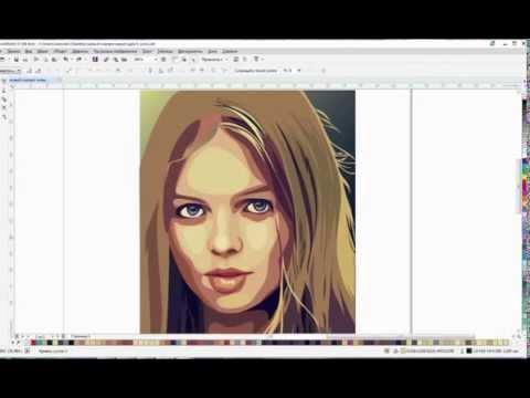 Рисовать портрет в корел