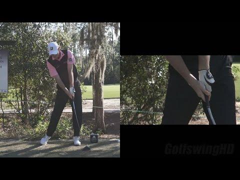 BRANDT SNEDEKER DRIVER SWING - (CLOSE UP HANDS) TIBURON GOLF COURSE PRACTICE SLOW MOTION 1080p HD