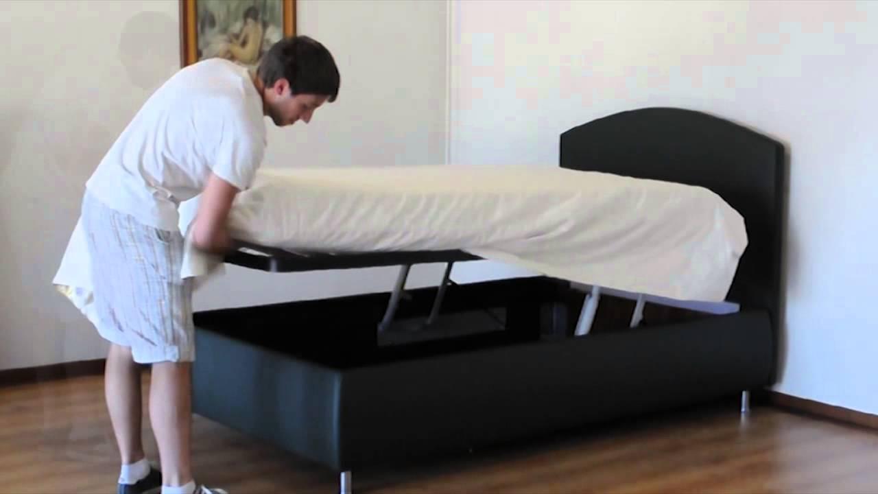 Letto contenitore con doppio meccanismo youtube - Letti singoli con doppio letto ...