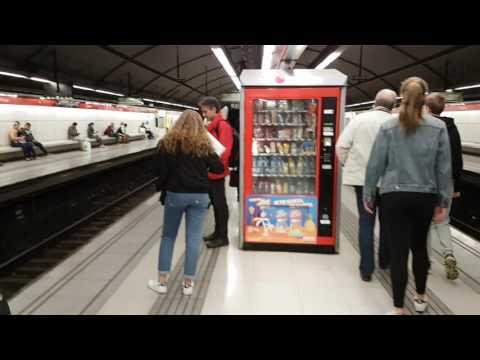 TYRONE ONEZA AT METRO TRAIN STATION BARCELONA SPAIN