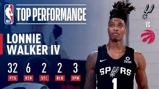 Lonnie Walker IV GOES OFF For 32 vs Toronto | July 8, 2019