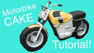 How to make a Motorbike CAKE!