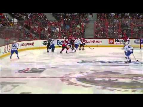 Jean-Gabriel Pageau Hat Trick Against Canadiens  5/5/13
