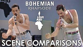 Live Aid | Bohemian Rhapsody (2018) - scene comparisons