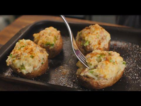 Фаршированный картофель с беконом и грибами (2)