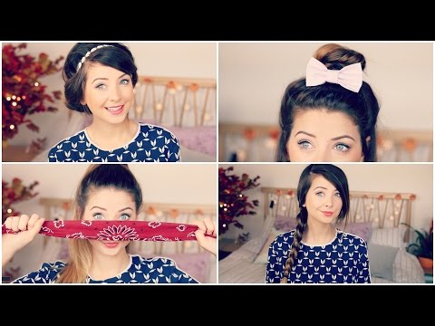 How To: Quick & Easy Hair Styles | Zoella