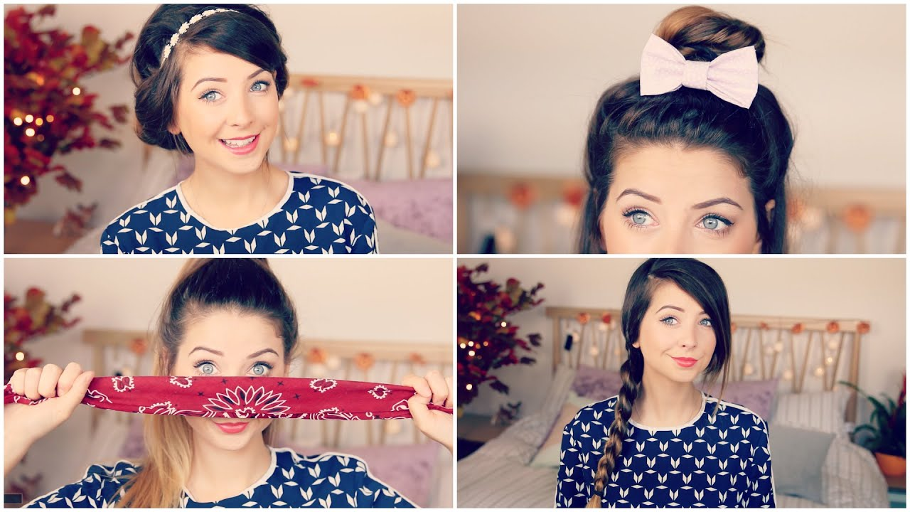 How To: Quick & Easy Hair Styles | Zoella - YouTube