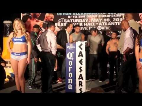 HAROON KHAN v VICENTE MEDELLIN - OFFICIAL WEIGH IN @ CAESARS (ATLANTIC CITY)