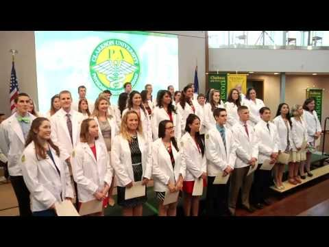 Physician Assistant Studies White Coat Ceremony at Clarkson University