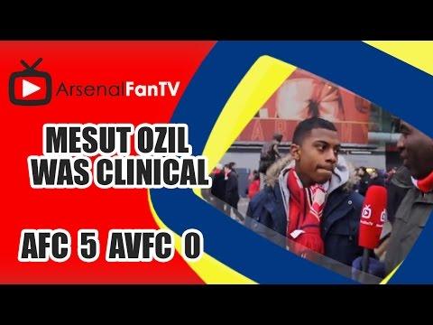 Mesut Ozil Was Clinical - Arsenal 5 Aston Villa 0