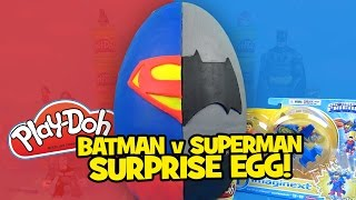 Batman vs Superman Play-Doh Surprise Egg with Batman Toys and Justice League Toys by KidCity