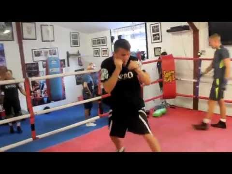 SOUTHERN AREA CHAMPION ADAM DINGSDALE SHADOW BOXING WARM UP FOOTAGE