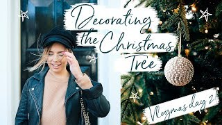 PUTTING UP THE CHRISTMAS TREE + DECORATING | Hello October VLOGMAS DAY 2 + 3